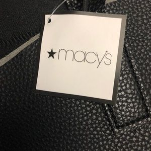 Macy's Women's Large Black Faux Leather Tote Bag
